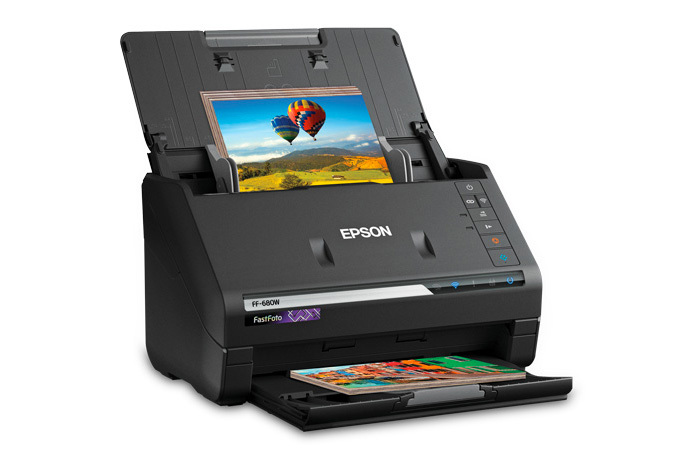 Epson FastFoto FF-680W Wireless Photo & Document Scanner